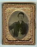 Pvt. John Morris - 11 Illinois Cavalry Ruby Red Ambrotype